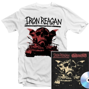 Iron Reagan - Warning T Shirt + Split CD Bundle