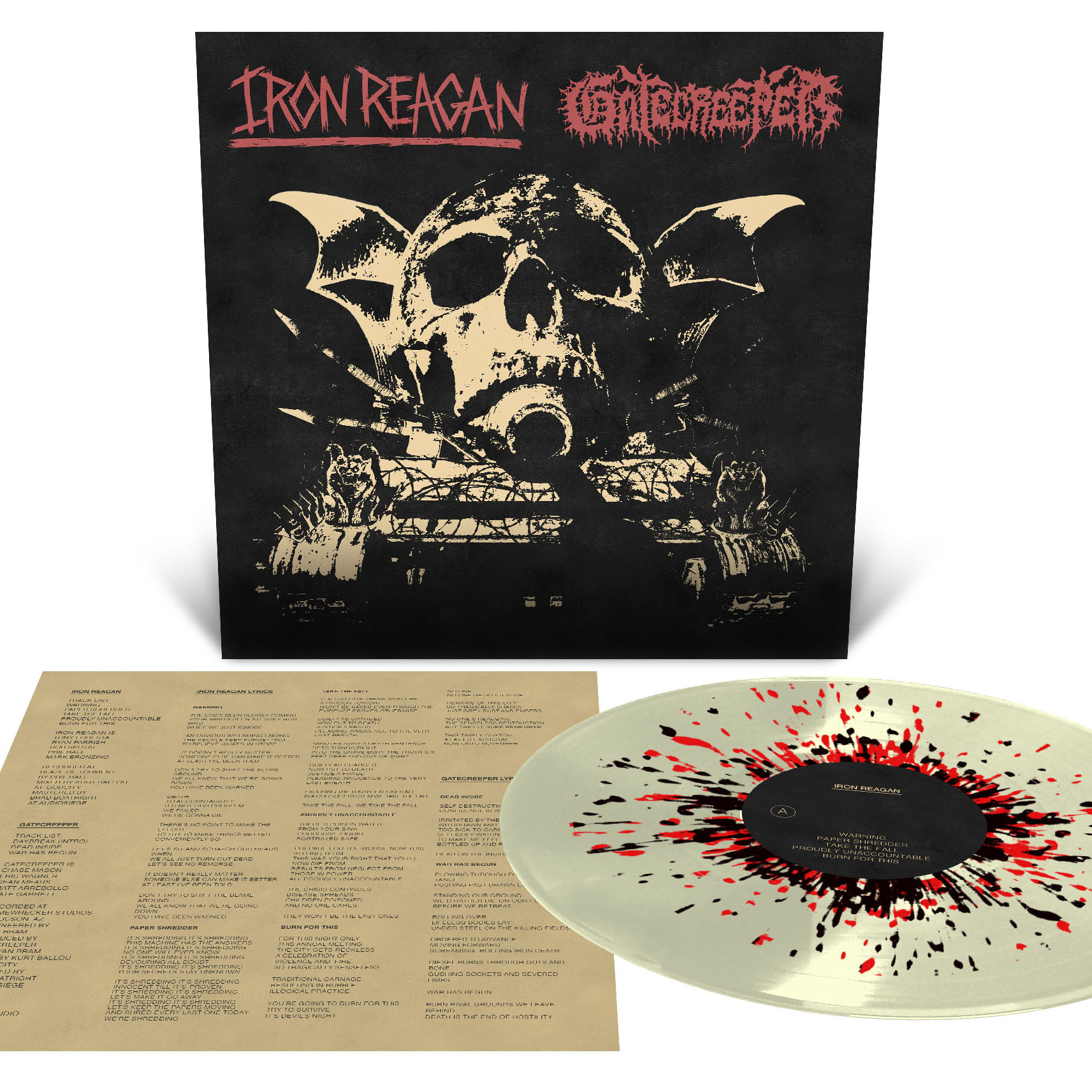 Gatecreeper - Dead Inside T Shirt + Split LP Bundle