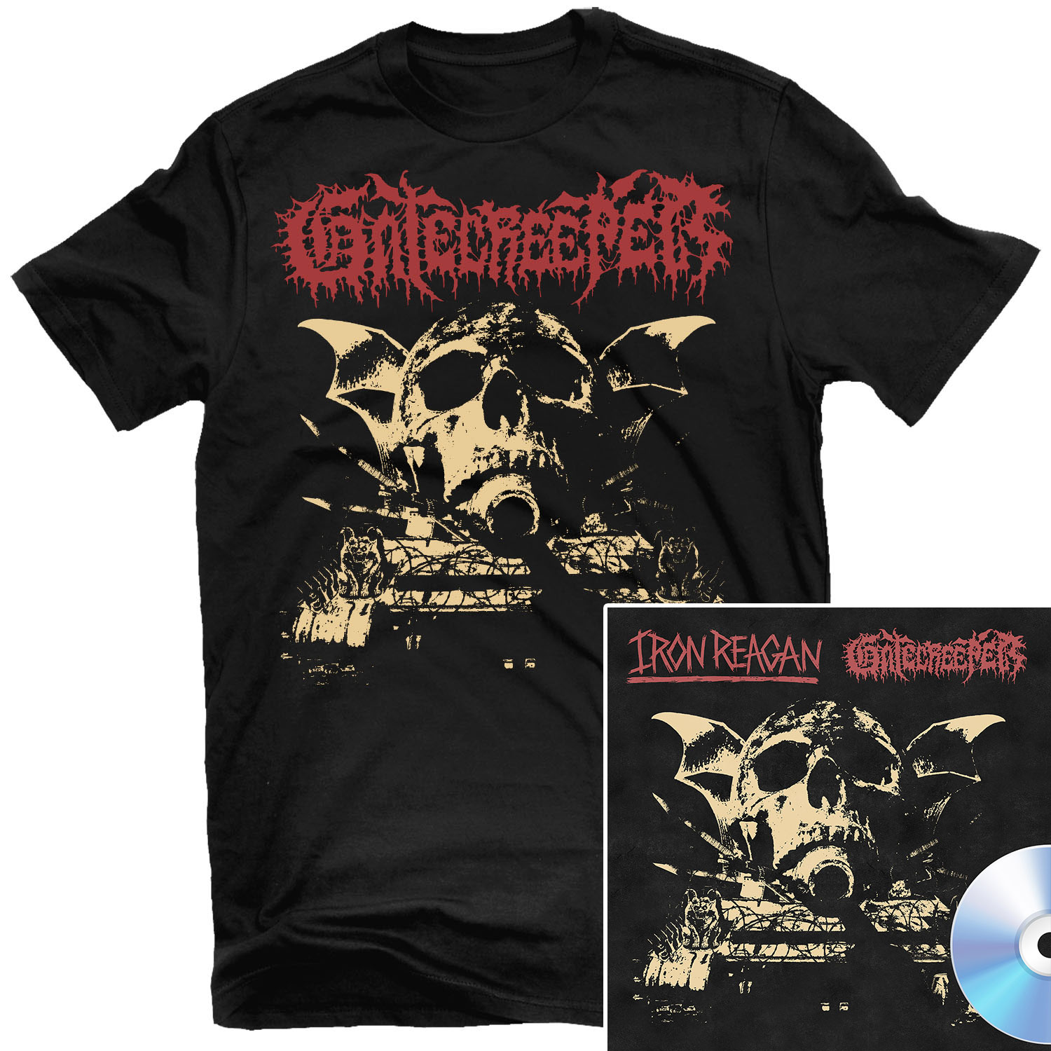 Gatecreeper - Dead Inside T Shirt + Split CD Bundle