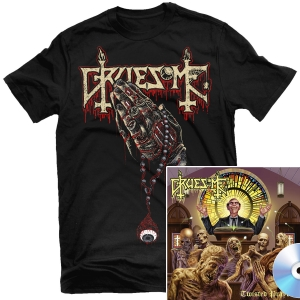 Crusade of Brutality T Shirt + Twisted Prayers CD Bundle