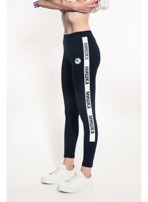 Cyrillic Stripe Women's Leggings