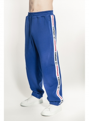 Keep Watch Cyrillic Stripe Sweatpants