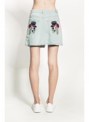 Simon Rose Denim Skirt