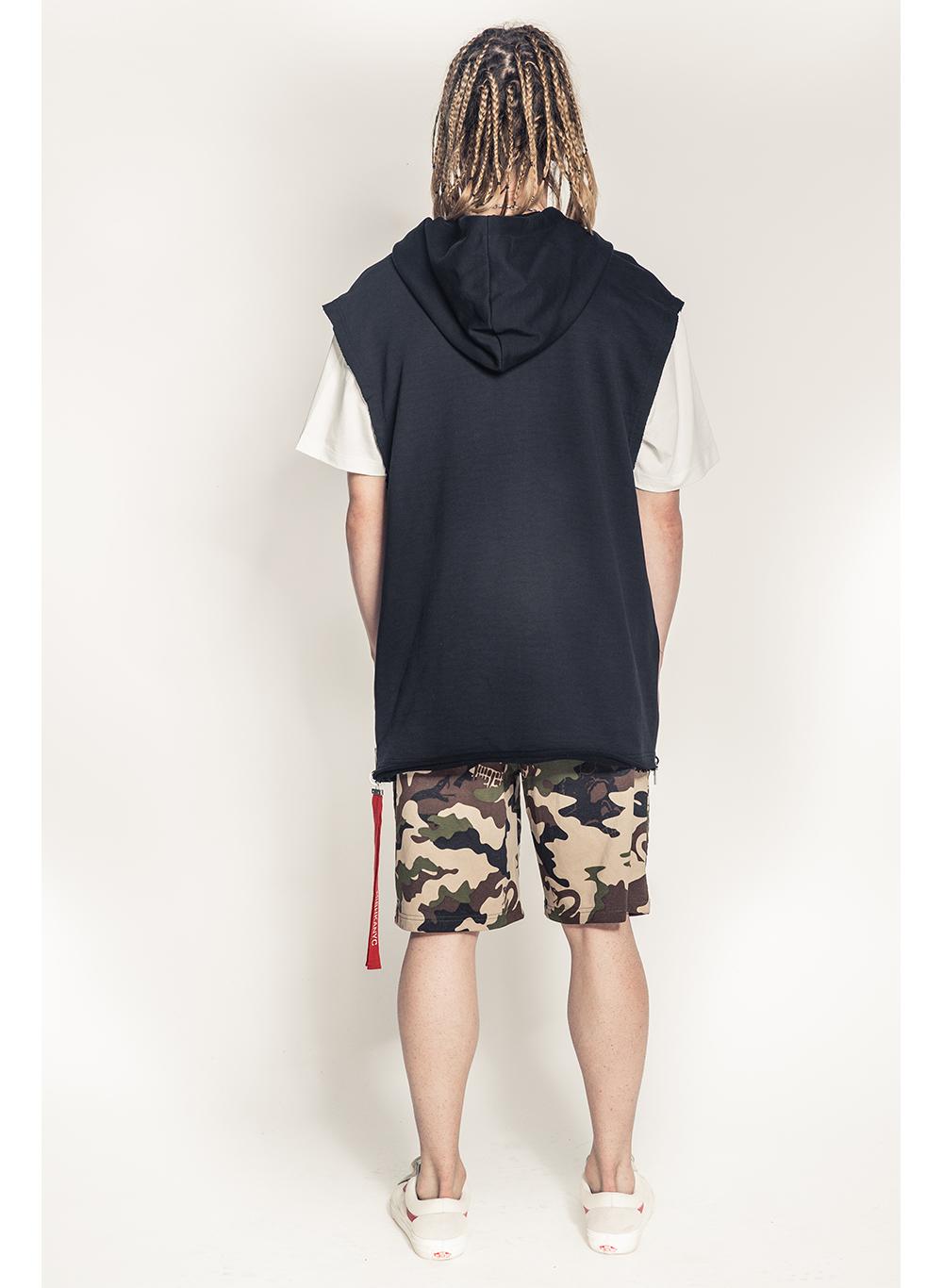 Lamour Split Icons Sleeveless Pullover Hoody