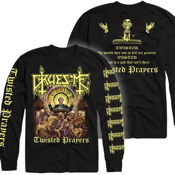 Gruesome Quot Twisted Prayers Longsleeve Shirt Deluxe Lp