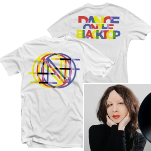 Dance On The Blacktop T Shirt (White) + LP Bundle