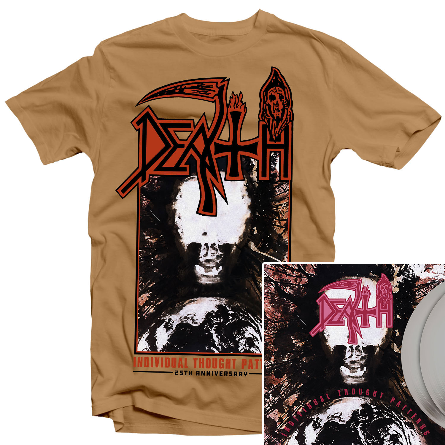 Individual Thought Patterns 25th Anniversary T Shirt + 25th Anniversary Deluxe Reissue 2LP Bundle