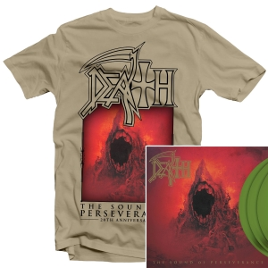 The Sound Of Perseverance 20th Anniversary T Shirt + 20th Anniversary Deluxe Reissue 3LP Bundle