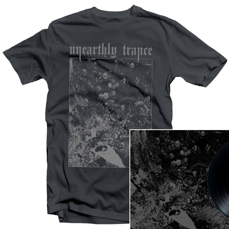 Unearthly Trance - Mechanism Error T Shirt + Split with Primitive Man LP Bundle