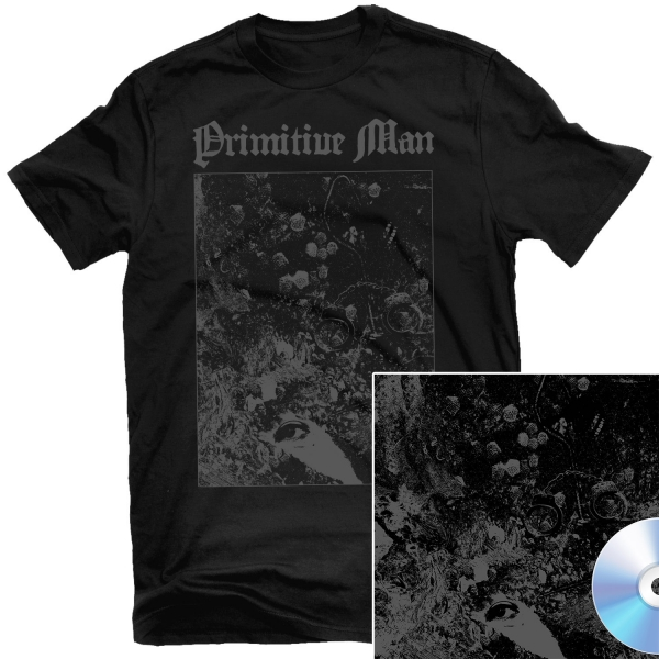 Primitive Man - Love Under Will T Shirt + Split with Unearthly Trance CD Bundle