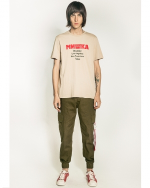 Lamour Split Icons T-Shirt (Dark Khaki)