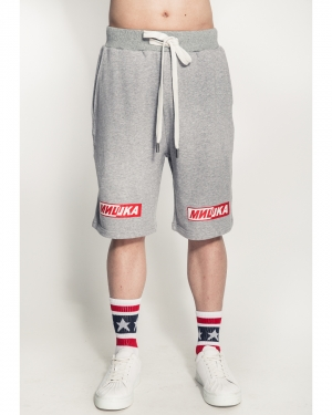 Split Cyrillic Shorts (Grey Marle)