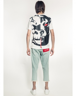 Oversized Split Icons T-Shirt (Off White)