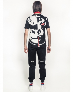 Oversized Split Icons T-Shirt (Black)