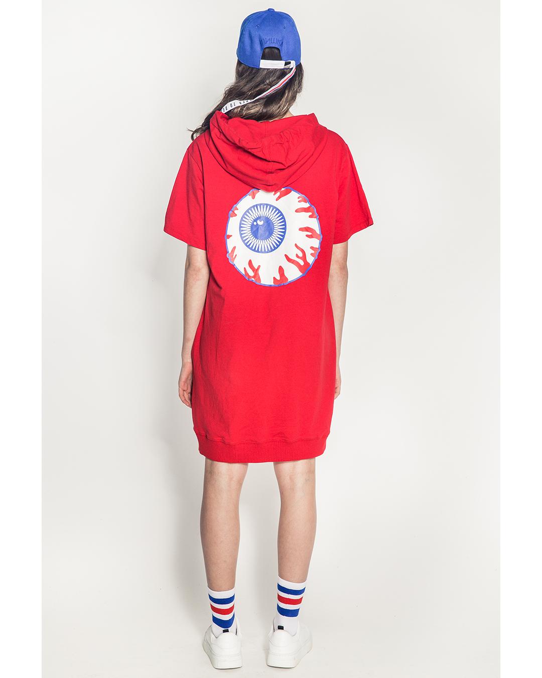 Cyrillic Legacy Girl's Hoody Dress (Red)