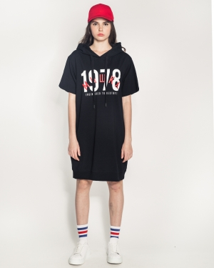Cyrillic Legacy Girl's Hoody Dress (Black)