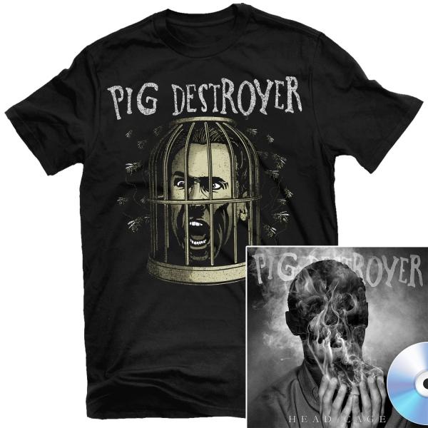 Cage Head T Shirt + Head Cage CD Bundle