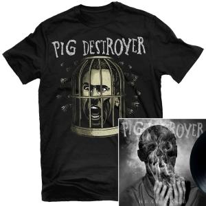 Cage Head T Shirt + Head Cage LP Bundle