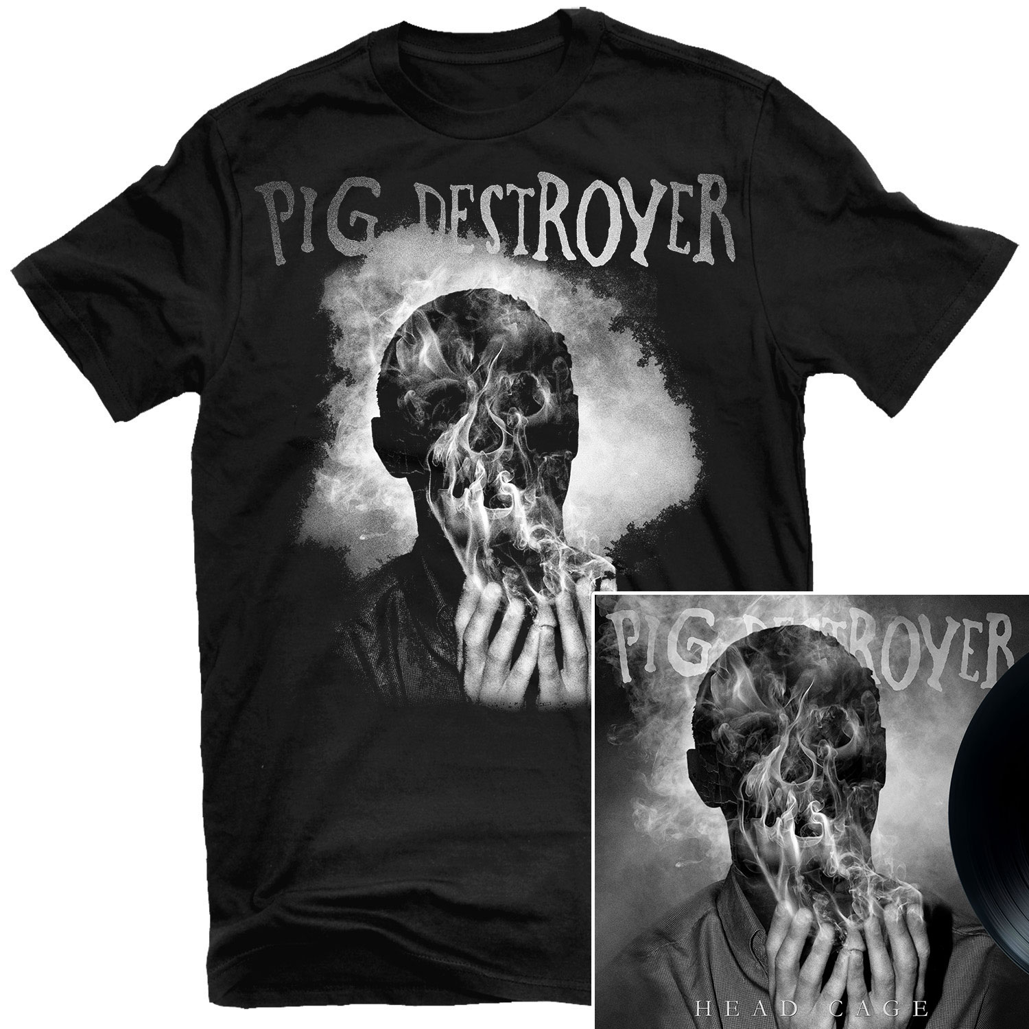 Head Cage T Shirt + LP Bundle