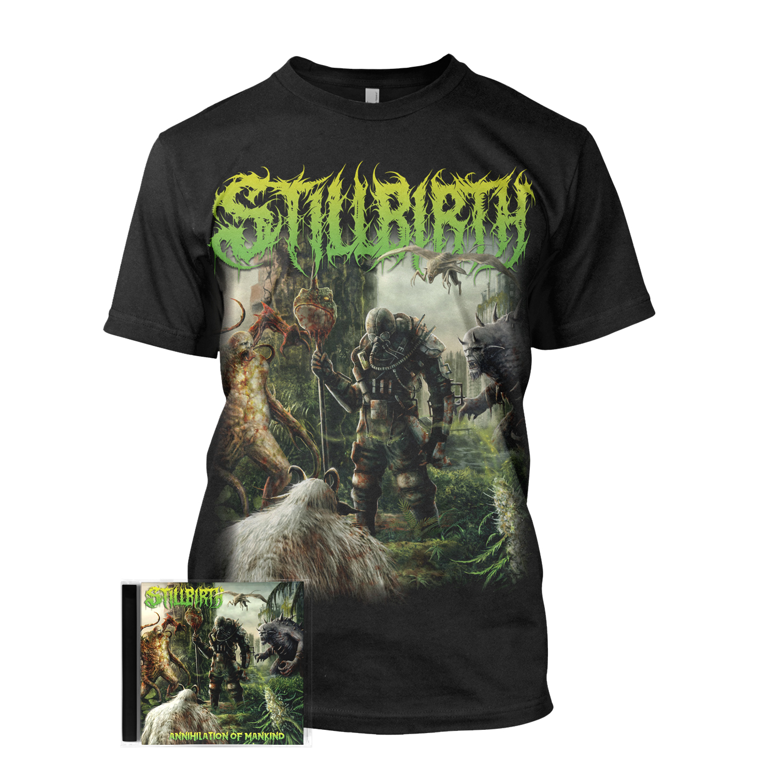 Annihilation of Mankind Tee + CD Bundle