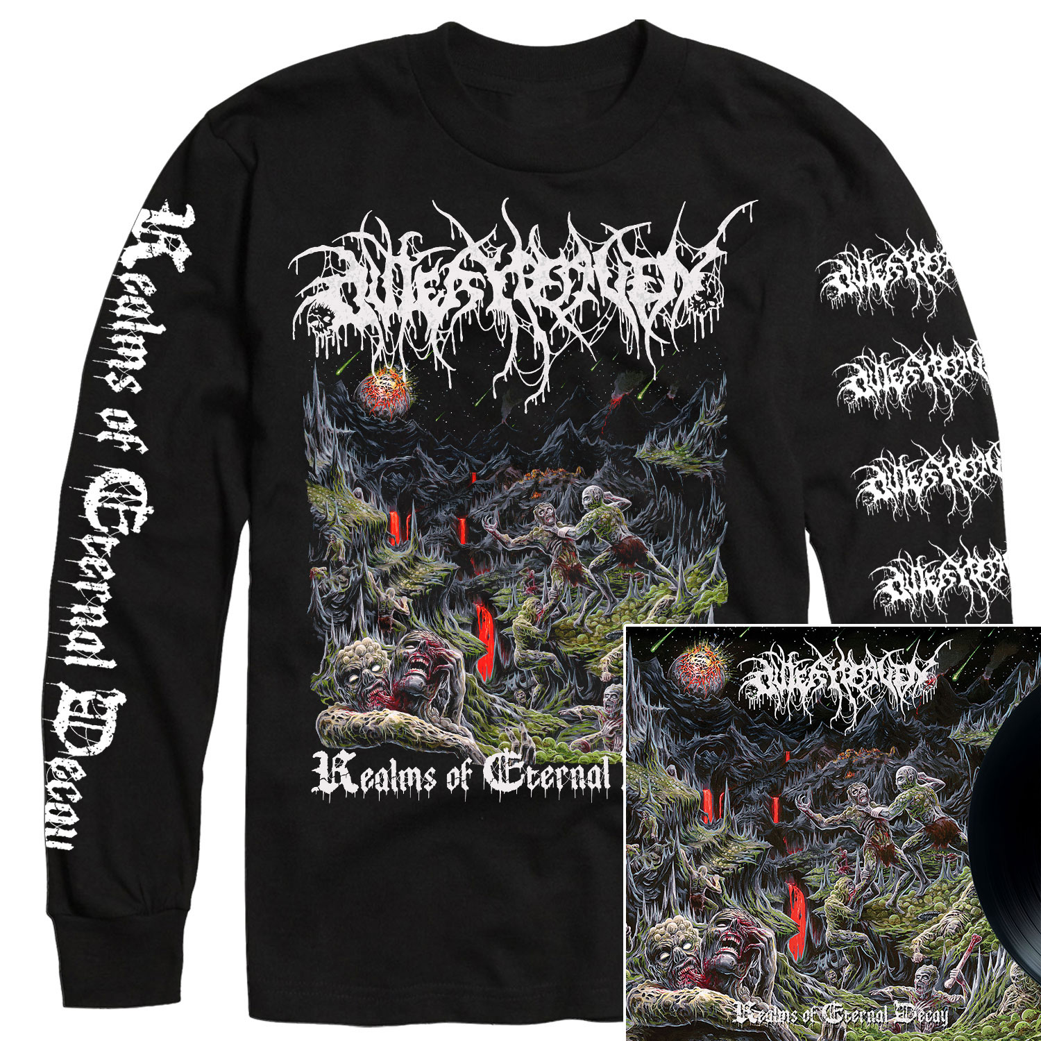 Realms Of Eternal Decay Longsleeve Shirt + LP Bundle