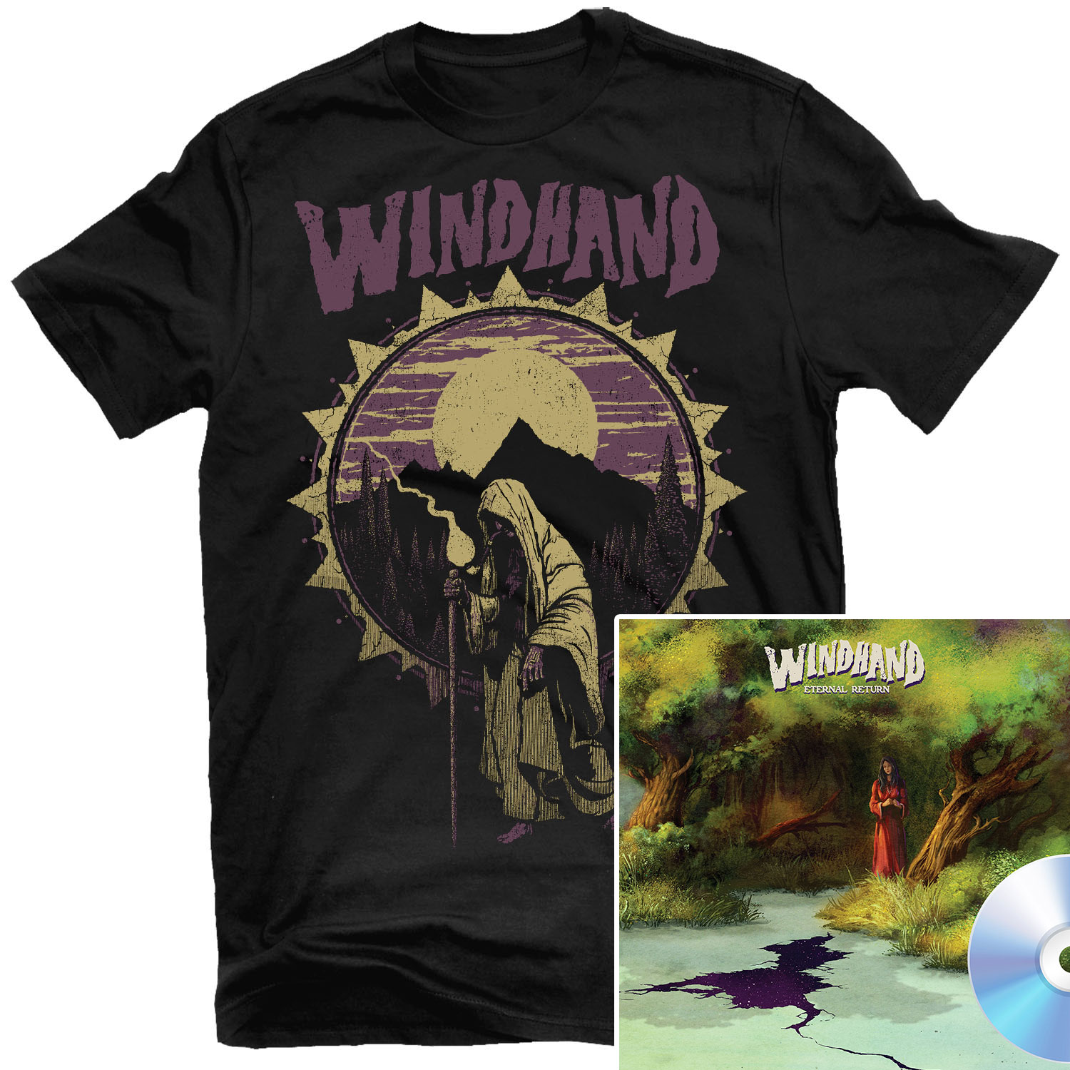 Pilgrim's Rest T Shirt + CD Bundle