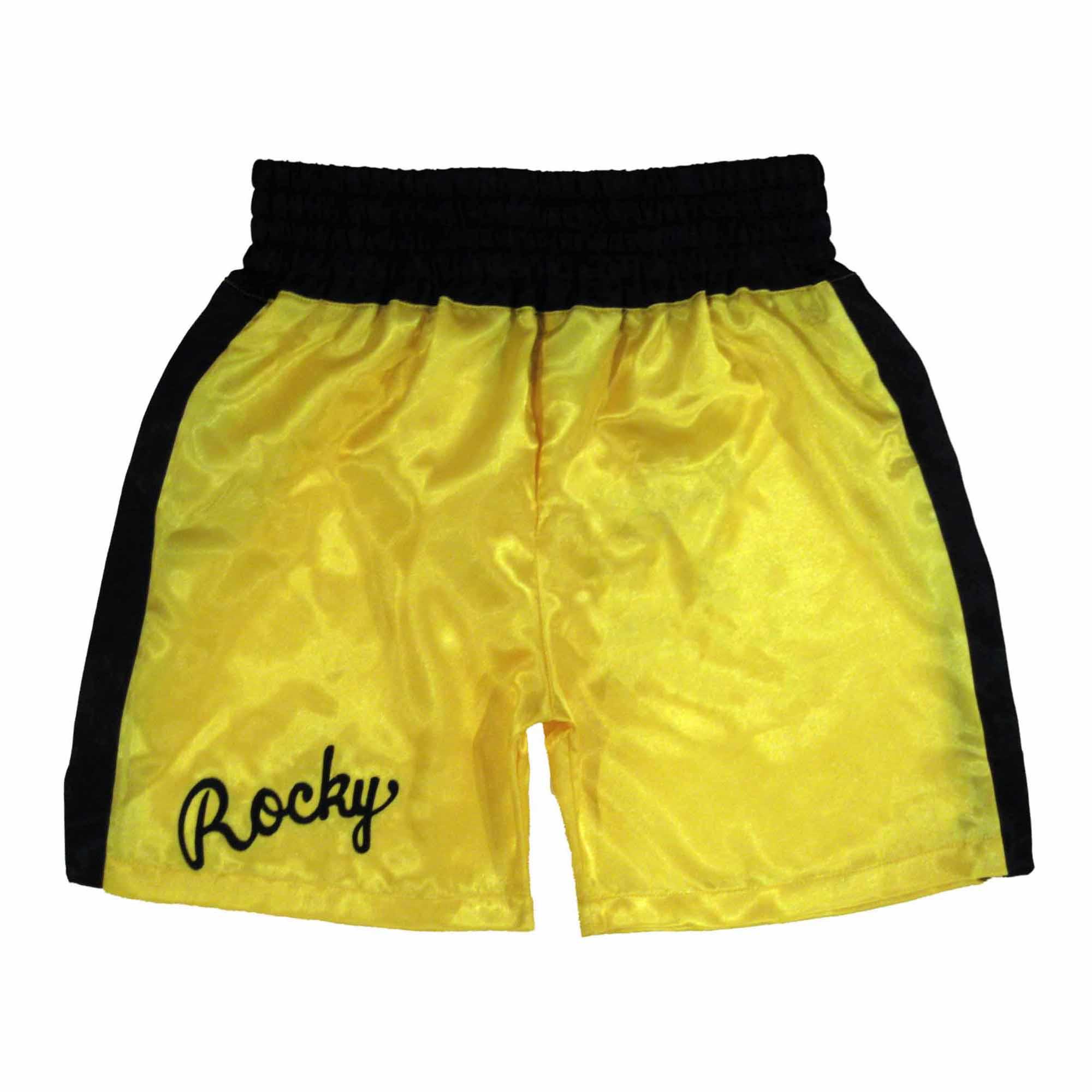 Rocky III Yellow Boxing Trunks