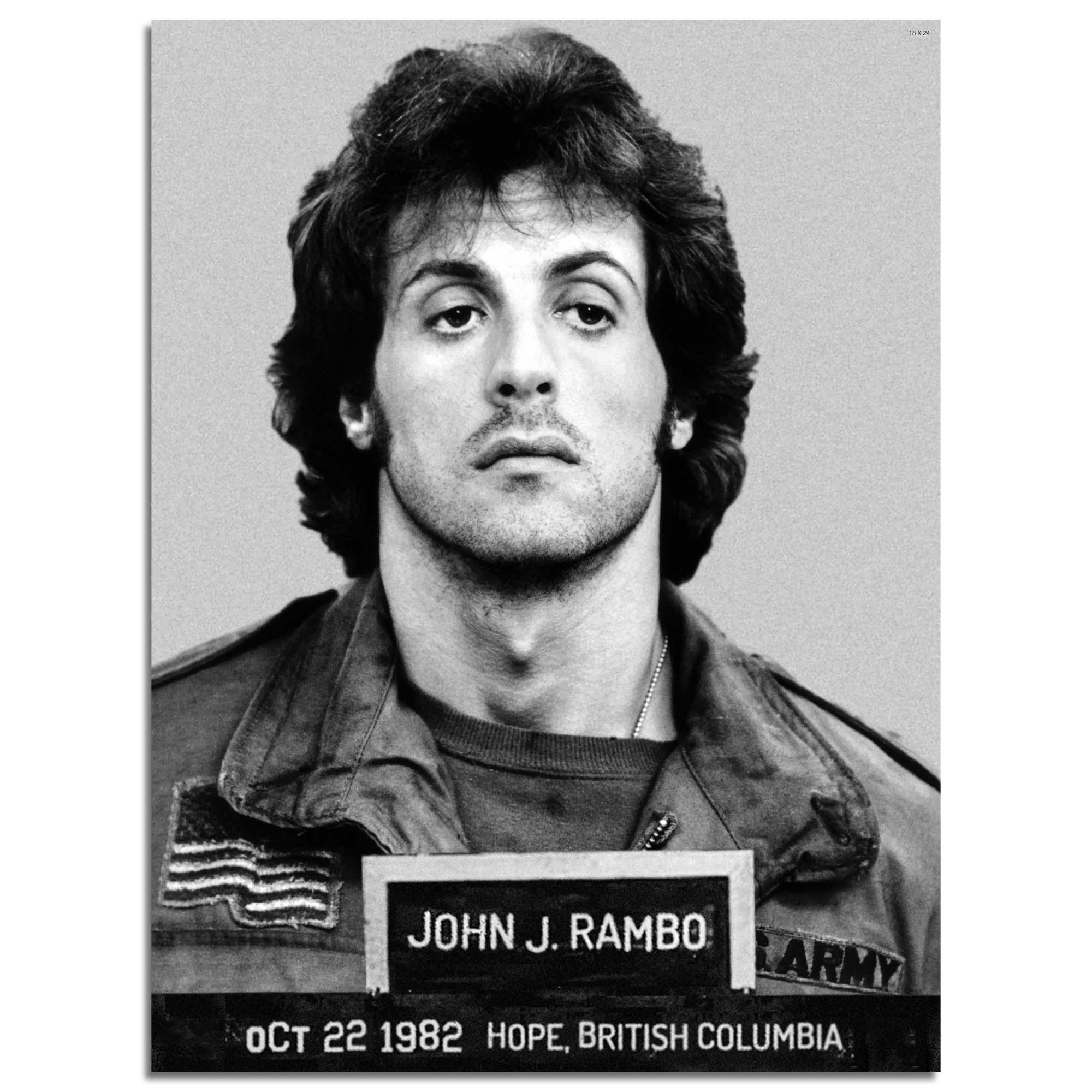 """John Rambo Mugshot 18"""" x 24"""" Photo"""