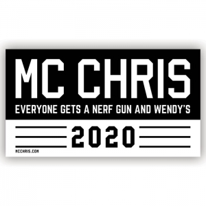 mc chris 2020 beto bumper sticker