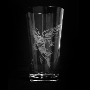 Falling Feather Pint Glass