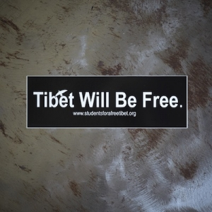 """Tibet Will Be Free."" Bumper Sticker"