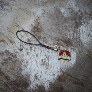 Tibetan Flag Cell Phone Charm