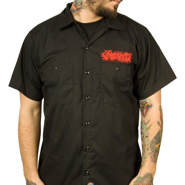 aborted logo work shirts aborted