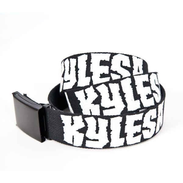 Discharge Logo Webbed Belt