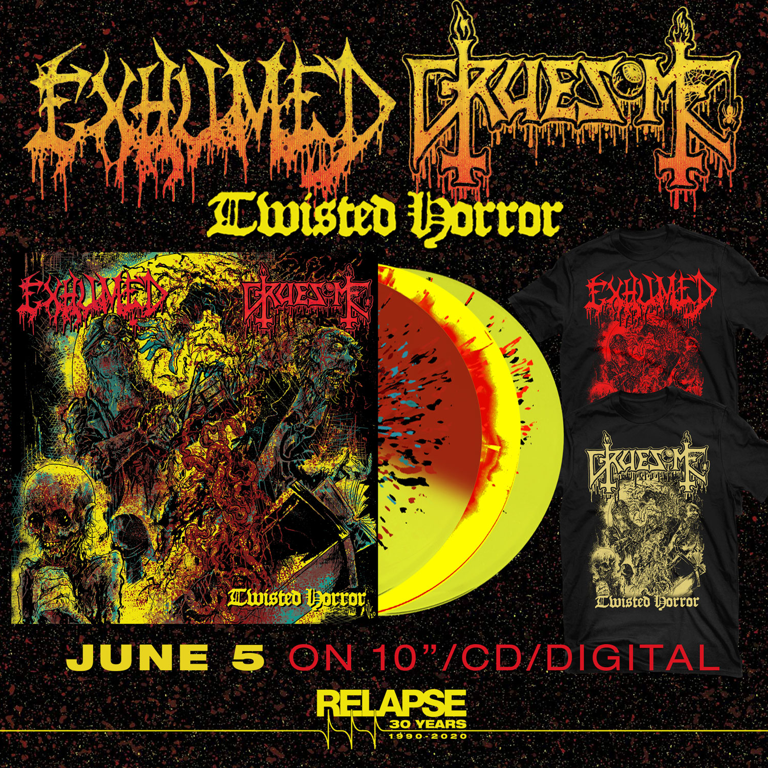 exhumed & gruesome split twisted horror