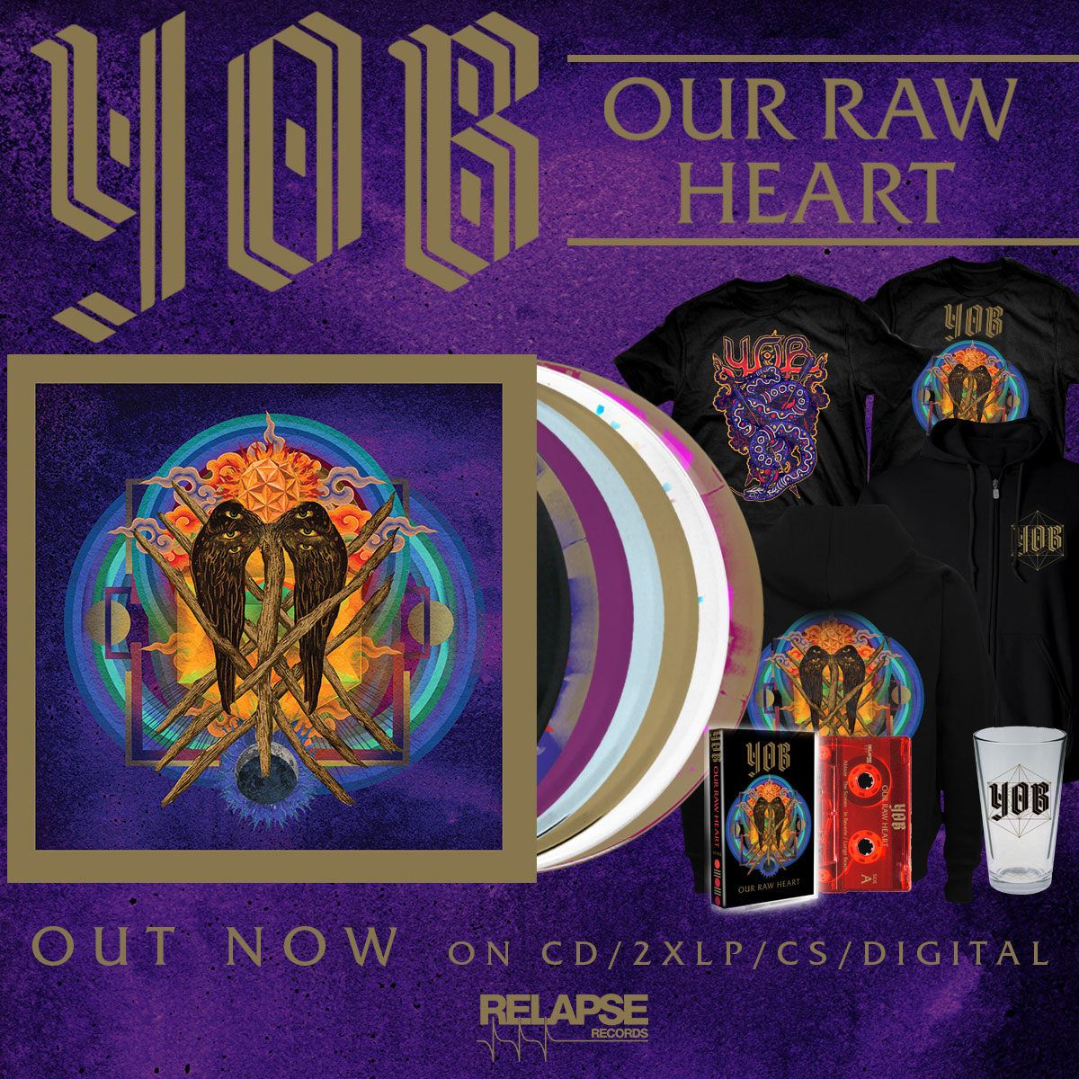 Relapse Records Official Store Cat 5 Patch Panel Wiring Diagram Free Download Yob Our Raw Heart Out Now