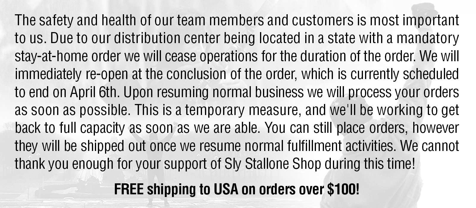 Sly Stallone Shop