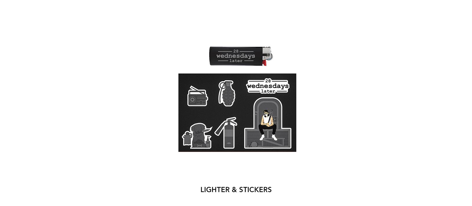 28 Wednesdays Later Lighter Sticker