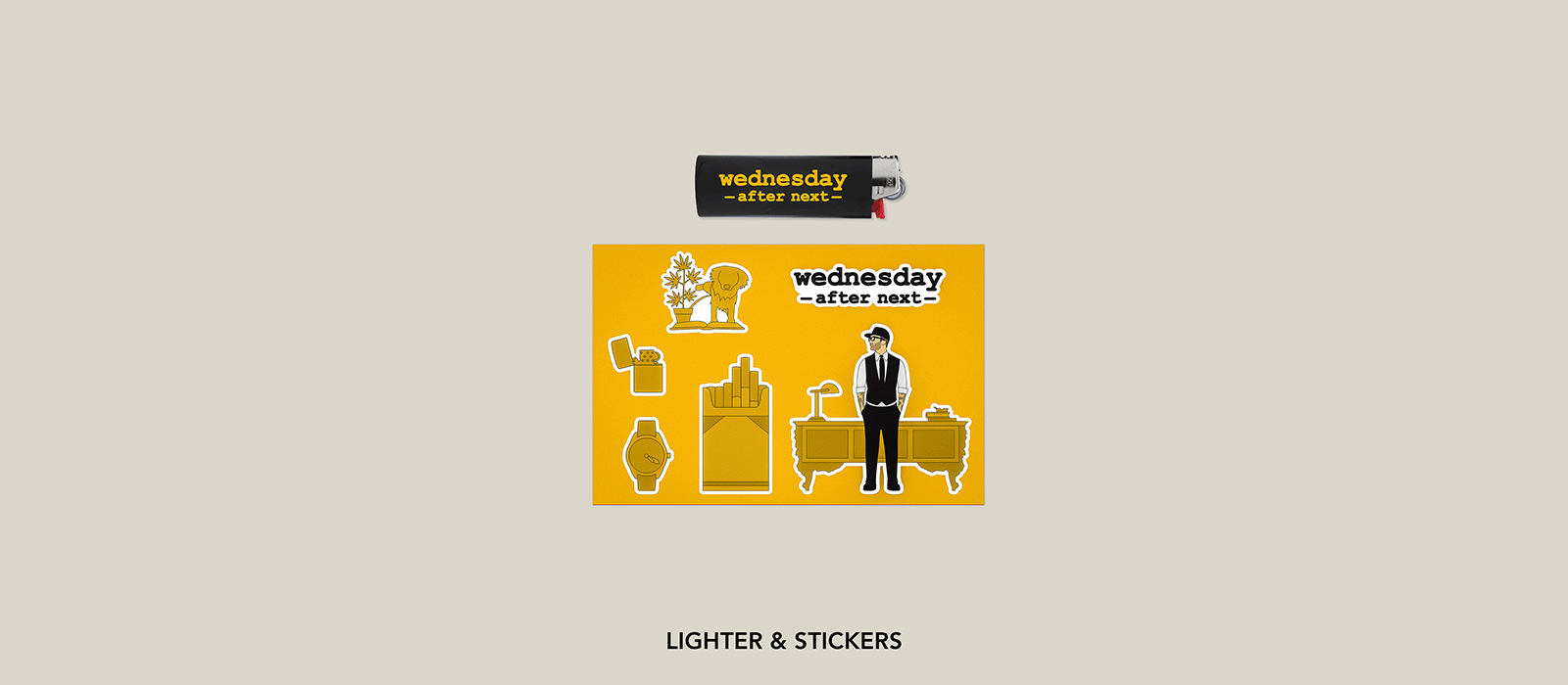 Wed After Next Lighter & Sticker Sheet 300 x 200