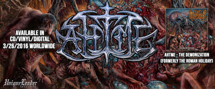AHTME(Formerly The Roman Holiday) The Demonization reissue.