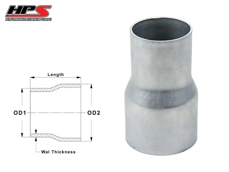 "HPS 3 1//2/"" 89mm Aluminum Joiner Tube Tubing Pipe Piping w// Bead Roll x4/"" Length"