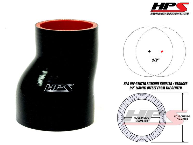 "HPS 2.25/"" Blue Silicone Offset Coupler Hose 3/"" Long Intake Intercooler 57mm"