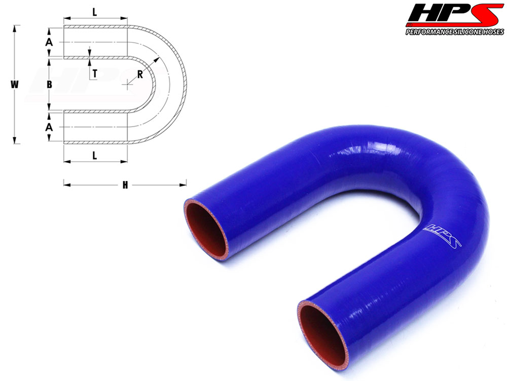 Blue High Temp 4-ply Reinforced HPS 3-3-1//2 ID 6 Length,Silicone Offset Reducer Coupler Hose