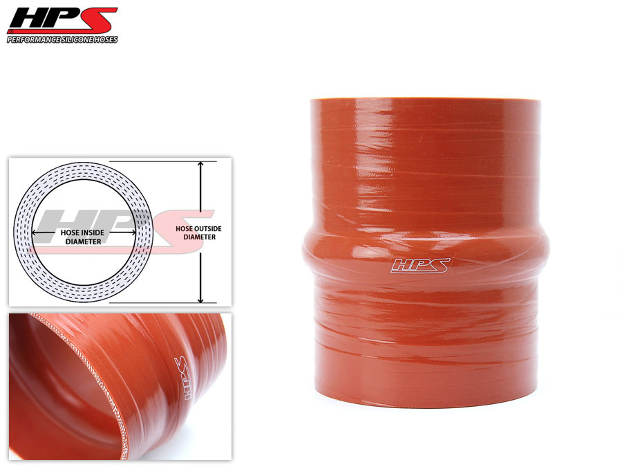 70mm ID Orange 4-Ply Aramid Silicone Tube Coupler Hose HPS 1 Foot Long 2.75/""