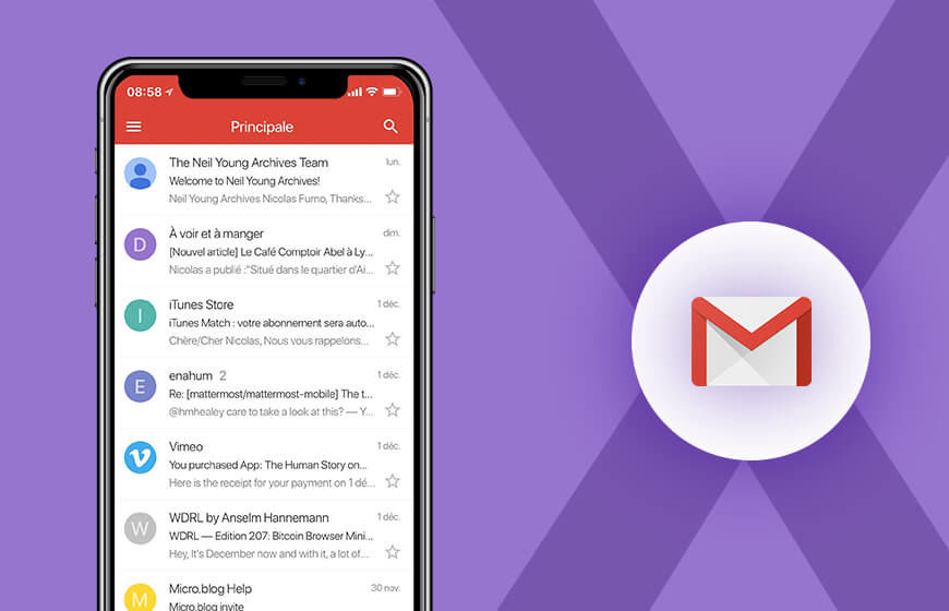 Gmail now offers support to iPhone X