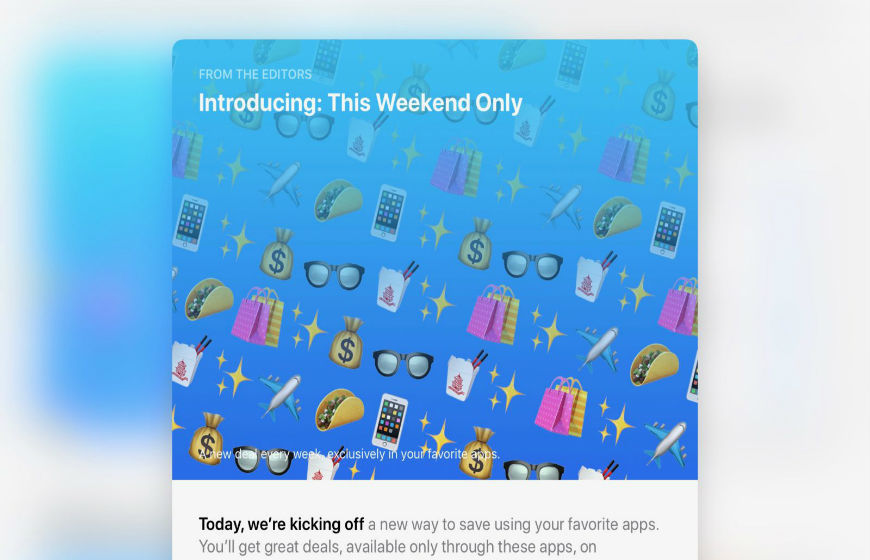 Apple This Weekend Only Deal