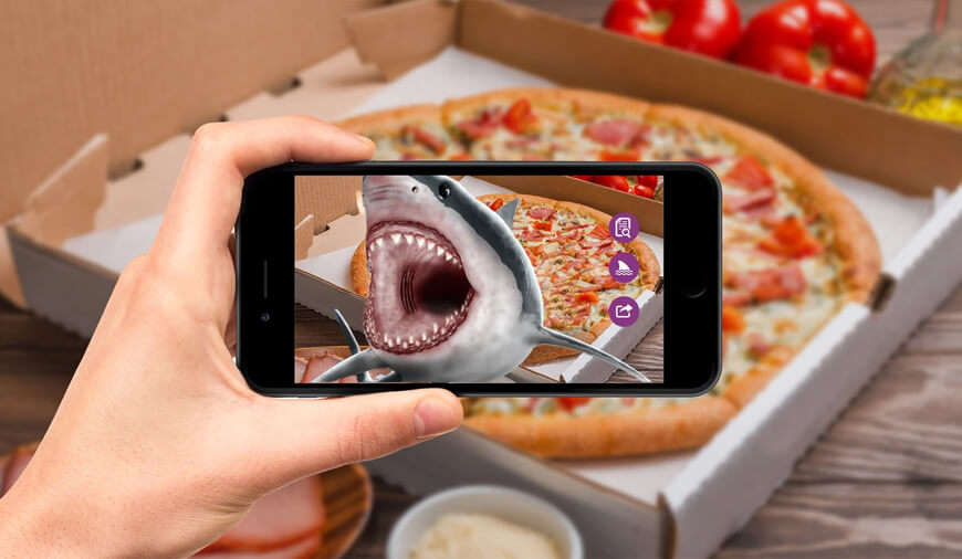 Domino Using Snapchat AR