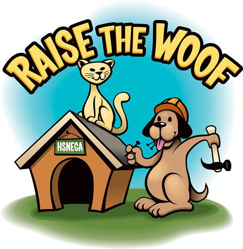 Raise the woof logo type web