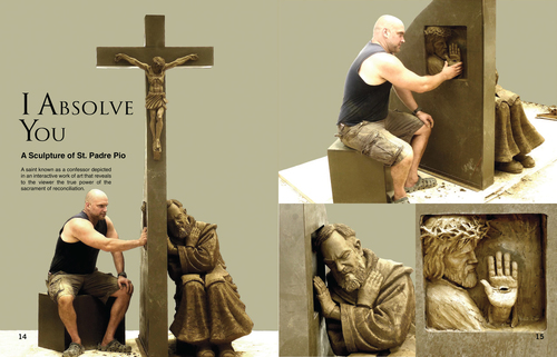 I absolve you   padre pio statue