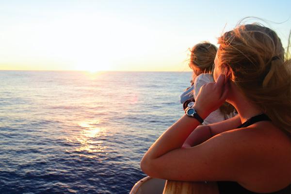 Ship sunset giving